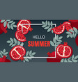 summer holiday banner design vector image vector image