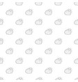 sun and cloud pattern seamless vector image