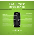 Tire track infographic vector image vector image