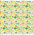 Vegetable seamless pattern garden background vector image vector image