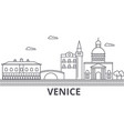 venice architecture line skyline vector image vector image