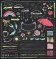 Vintage Chalkboard Design Elements Hand Drawn Set vector image vector image