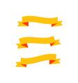 vintage ribbons logo vector image