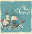vintage sailing ship vector image vector image
