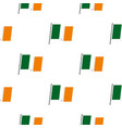 waving flag of ireland pattern seamless vector image