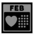 white halftone valentine february day icon vector image