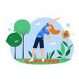 yoga sport outdoor activity flat vector image vector image