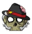 zombie invasion paper mask - mafia boss vector image vector image