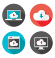 Cloud Services Flat Icons with Shadows Set vector image