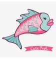 Cute fish vector image