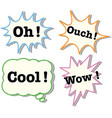 expressions in four different bubbles vector image