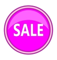 Pink sale icon flat design vector image