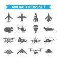 Aircraft Icons Flat vector image vector image
