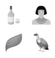 alcohol ecology and other monochrome icon in vector image vector image