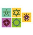arabic star symbols for ornament or decoration vector image vector image