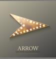 arrow retro light banner vector image vector image