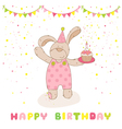 Baby Shower Card - Baby Bear with Air Balloon vector image vector image
