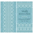 Baroque wedding invitation blue vector image vector image