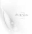 beautiful shiny waves in white background vector image vector image