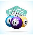 Bingo balls and cards vector image vector image