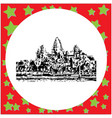 black 8-bit angkor wat isolated vector image vector image