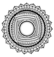 Black and white mandala coloring book pages for vector image