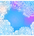 blue winter background for meditation design vector image vector image
