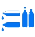 bottle and falling water drop vector image vector image