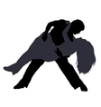 Break dancers silhouettes vector image vector image
