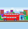 bus stop residential area vector image vector image