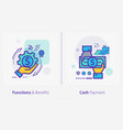 business and finance concept icons functions and vector image vector image