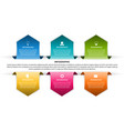 business options infographic timeline design vector image vector image
