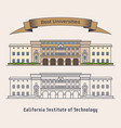 caltech or california institute of technology vector image vector image
