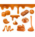 caramel realistic candy sweets liquid food sauces vector image vector image