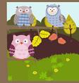 cartoon forest landscape cartoon forest landscape vector image