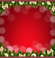 christmas card with border vector image
