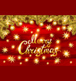 christmas greeting card and happy new year vector image