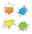 Color set hand drawn speech bubble vector image
