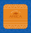 colorful african card tribal background seamless vector image