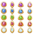 Colorful golden amulets with diamonds different vector image vector image