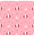 cute christmas seamless pattern with reindeers vector image