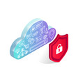 data storage protection isolated vector image vector image