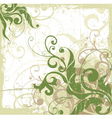 decorative floral grunge vector image