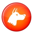 Doberman dog icon flat style vector image vector image