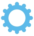 Gear flat blue color icon vector image