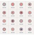 geometric symbols vector image vector image
