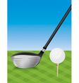 Golf Driver and Teed Ball vector image vector image