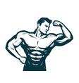 gym bodybuilding sport concept male athletic vector image vector image