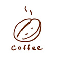Hand Drawn Coffee Sign vector image vector image