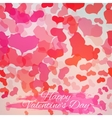 Happy Valentines Day Card Design vector image vector image